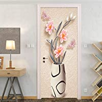 Xbwy Pvc自己接着防水壁画壁紙3Dステレオファッションシンプルな花瓶の花ドアのステッカーリビングルームの寝室の家の装飾-250X175Cm