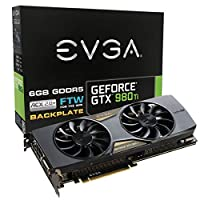 EVGA GeForce GTX 980 Ti 6GB FTW GAMING ACX 2.0+, Whisper Silent Cooling w/ Free Installed Backplate Graphics Card 06G-P4-4996-KR by EVGA [並行輸入品]
