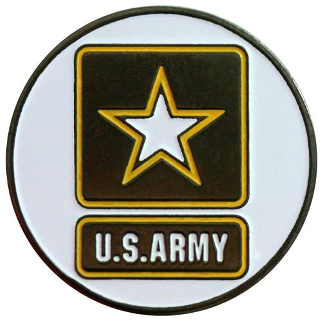 サイズ支援するアンカーTwo Sided Armyゴルフボールマーカーwith USA帽子クリップ