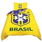 海外サッカー 公式 オフィシャル / シングルサイズ リバーシブル 掛布団カバー・枕カバー セット 全8種 (Brasil / ブラジル代表 ナショナルチーム) [並行輸入品]