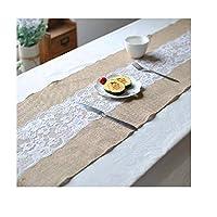 テーブルクロス イージーケア シンプル テーブルクロスレースホテルレストラン装飾用テーブルフラッグ防塵クラシック屋内または屋外パーティー 卓上装飾 (Color : A, Size : 11.8*55.1in)