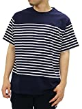FIRST DOWN(ファーストダウン) 大きいサイズ メンズ Tシャツ 半袖 ボーダー ネイビー LL