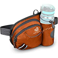WATERFLY Waist Bag with Water Bottle Holder, Breathable Waist Pack with Reflective Strip for iPhone6/6s Plus/7 Plus for Running Cycling Camping Climbing Travelling