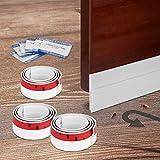 AGPTEK 1m×3本 隙間テープ ドア下部シールテープ すきま風防止 冷暖房効率アップ 省エネ 気密 強力粘着 遮光 防音 防虫 防水 花粉防止 自動ドア 玄関 ホワイト