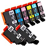 【インクのチップス】 KAM ( カメ ) 互換インク 増量版 6色セット+ブラック2本追加! 【 KAM-6CL-L 互換 + KAM-BK-L 互換 】 ISO14001 ISO9001認証工場生産商品 残量表示対応ICチップ 1年保証 対応機種: エプソン EP-881AB   EP-881AW   EP-881AN   EP-881AR   EP-882AW   EP-882AB   EP-882AR