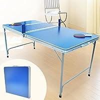 【卓球台 家庭用 ピンポン台 折り畳み式 コンパクト 持ちはこび 】折りたたみピンポン台 ブルー(JT-017-S1)