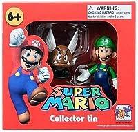 Super Mario Collector Tin - Luigi and Paragoomba Figures - Series 1