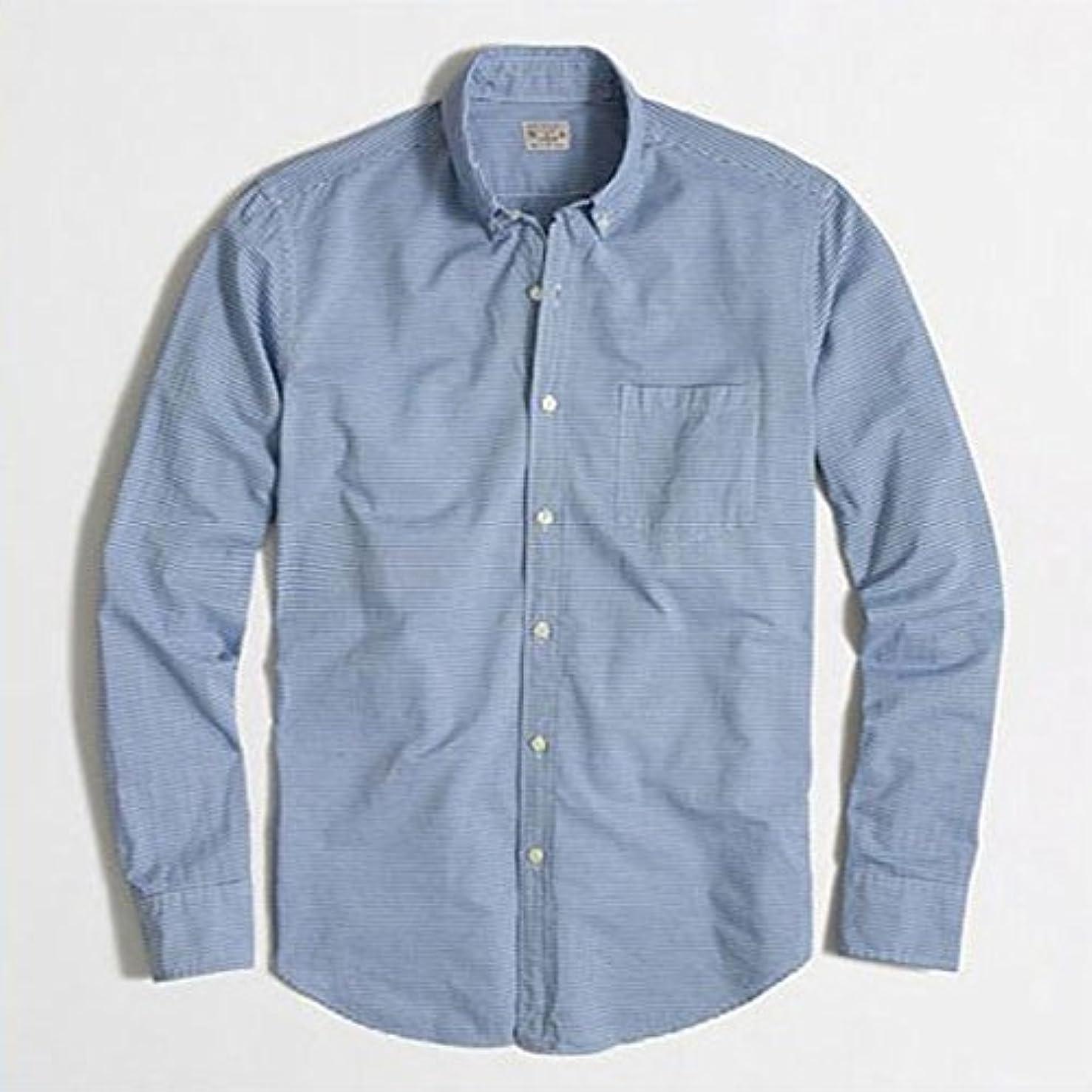みがきます納税者保険[ジェイクルー] J.CREW 正規品 メンズ 長袖シャツ WASHED SHIRT IN HORIZONTAL STRIPE 並行輸入品 (コード:4075783819)