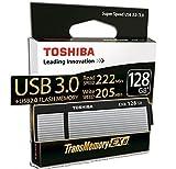 東芝 USB3.0 フラッシュメモリ 128GB R:222MB/s W:205MB/s TransMemory-EX II Toshiba 海外向パッケージ