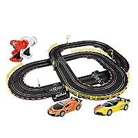 LINGLING-トラック トラック玩具子供ダブルアスレチックハンドロッカーロータリーレーストラックレース組み立ておもちゃハンドシェイクギフトA36-12-4.6m (Color : Hand crank, Size : A36 12-4.6M)