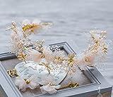 ティアラ カチューシャ ヘッドドレス 飾り 結婚式 髪飾り 和装にも 結婚式 ティアラ ヘッド アクセサリー フラワーヘッド 花冠 花嫁 ウェディング ヘッドドレス ドレス カチューシャ コサージュ パーティー