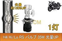 バイク専用 H4 RS Hi/Lo HID バルブ 35W 6000K 1灯[YOUCM][1年長期保証]