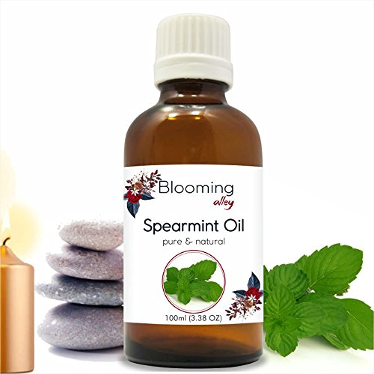 一般化する畝間朝食を食べるSpearmint Oil(Mentha Spicata) Essential Oil 100 ml or 3.38 Fl Oz by Blooming Alley