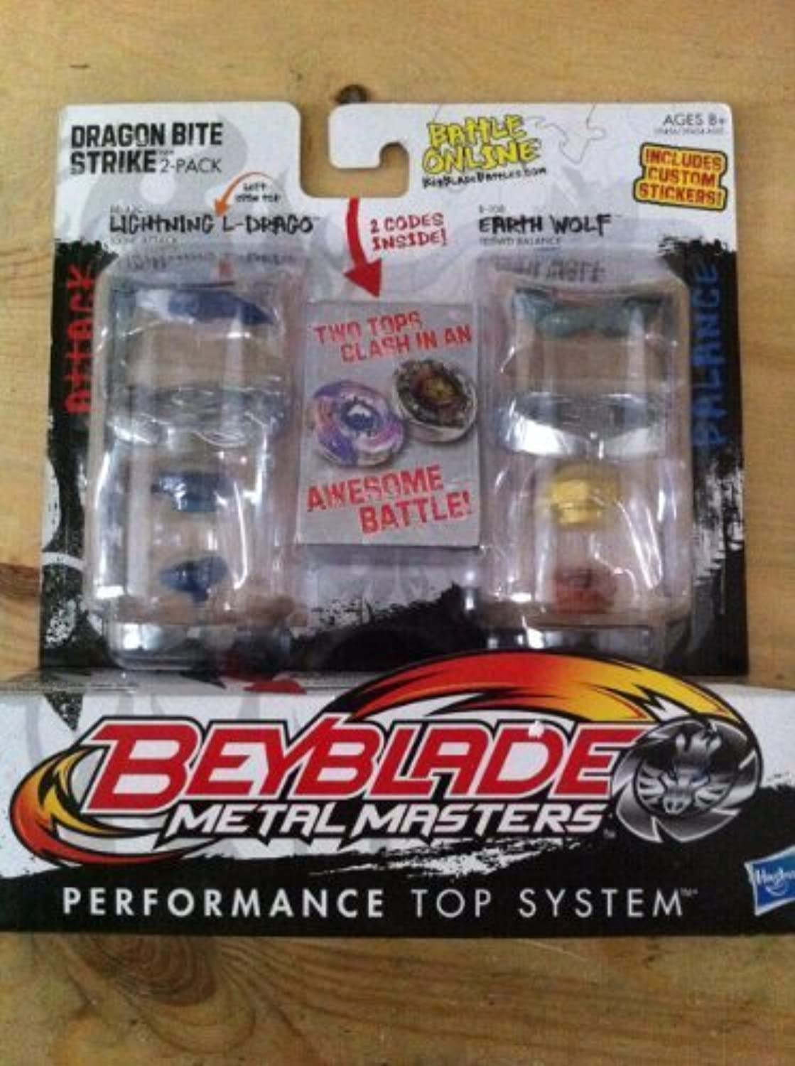 Beyblade, Metal Masters, Exclusive Dragon Bite Strike (Lightning L-Drago #BB-43C and Earth Wolf #B-108) 2-Pack [並行輸入品]