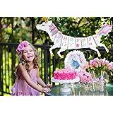 snapupgoユニコーンHappy誕生日バナー、ユニコーン、ユニコーンパーティーSuppliesバナー装飾、レインボーユニコーン、