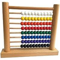 幼児期のゲーム 高品位ユーカリ8ファイル数学学習数計算ラック(カラフル)