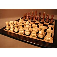 World Wise Old Russian Sheesham Chess Set, Ebony & Birdseye, Wood Sets, 2 by World Wise Imports [並行輸入品]