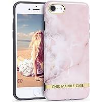 Imikoko iPhone8 ケース iPhone7 ケース TPU 大理石 マーブル 衝撃 薄型 おしゃれ 人気 かわいい ブランド