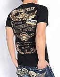 (ノートン) NORTON Tシャツ ノートンロゴ&ウィング 刺繍 ワッペン 吸水速乾 天竺 半袖Tシャツ 72N1006-09BLACK (M, 09(ブラック))