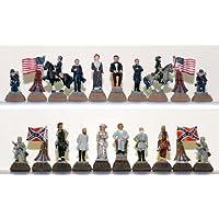 CHH Games Civil War Themed Metal Chess Piece Set [並行輸入品]