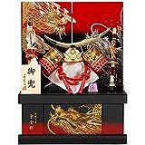 五月人形 兜 収納飾り 伊達政宗 大輝 メタマルーン塗 幅45cm [sb-16-143]