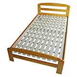 (RH) 天然松木 すのこベッド パイン材 木製 シングルベッド 通気性抜群 子供部屋【三段階高さ調整 】 (シングル, ライトブラウン)