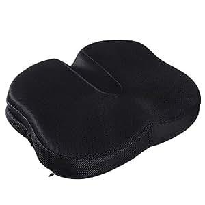 低反発 クッション HOMEMAXS 第五世代座布団 健康クッション ヘルスケア座布団 体圧分散 腰痛対策 骨盤サポート 姿勢矯正 腰楽クッション 座り心地抜群 自宅用 オフィス 椅子用 車用