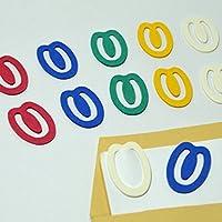 紙クリップ SD-15 6色ミックス 30個入り ペーパークリップ paper clip かわいいクリップ エコクリップ ゼムクリップ