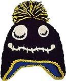 (グリンバディ) GRINBUDDY 耳あて付 kids ニット帽 フリース素材の裏地付き あったか チクチクしない プレゼントにもぴったり (ブラック)