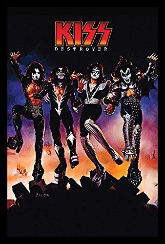 Buyartforless場合AQ 24104136x 241.25ブラックPlexi Framed Kiss Destroyer 36x 24音楽アートプリントポスターハードロックヘビーメタル4th Studio Album 1976