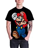 任天堂 スーパーマリオ Nintendo Super Mario Logo 公式 メンズ ブラック 黒 Tシャツ