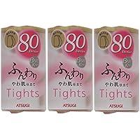 (アツギ)ATSUGI タイツ BARE KNIT(ベアニット) ふんわりタイツ 80デニール お腹ゆったりJサイズ 〈3足組〉