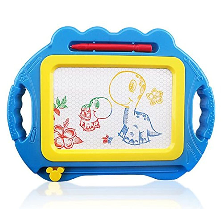 HuaQingPiJu-JP 消去可能な落書きボードカラフルなマグナ落書き書き込みエッチスケッチパッド子供のためのおもちゃを学ぶ子供の幼児