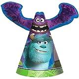 Amscan oozma-kappa-mazing Disney Monsters Universityダイカットペーパー誕生日パーティーCone Hatsサプライ(8パック)、マルチカラー、6