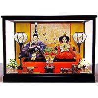 雛人形 三五親王ケース飾り 間口50㎝ 奥行28㎝ 高さ35.5㎝