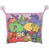 TOAOBキッズプレミアムベイビーバスおもちゃオーガナイザー幼児用大型玩具収納袋、女の子用、2個のヘビーデューティーロックサクションカップ