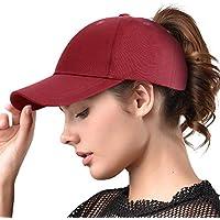 FURTALK Womens Messy High Bun Mesh Baseball Cap Ponytail Hat Adjustable Cotton Trucker Baseball Cap Dad Hat