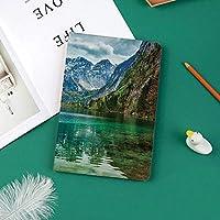 新しい ipad pro 11 2018 ケース スリムフィット シンプル 高級品質 手帳型 柔らかな内側 スタンド機能 保護ケース オートスリープ 傷つけドイツアルプスの谷の穏やかなオーバーゼー山湖自然画像