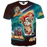 (ピゾフ) Pizoff Tシャツ メンズ 半袖 個性 ネコ デザイン Tシャツ 面白い 猫柄 プリント シャツ カジュアルY1625-34-S