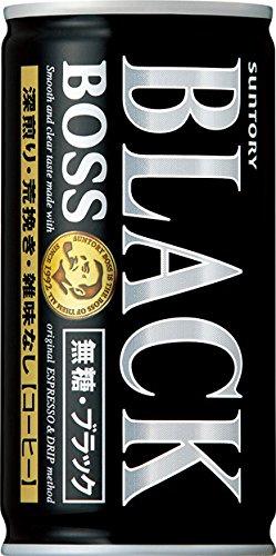 サントリー コーヒーボス 無糖ブラック 185g×30本 -