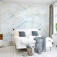 Ljjlm カスタム3 Dモダンファッション壁紙北欧シンプルでエレガントなリビングルームの寝室の壁壁画線葉壁壁画家の装飾-260X180CM