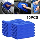 """TOPmountain Professional Microfiber Cleaning Cloth for Car Kitchen Window Glass Mirrors,Pack of 10,25×25Cm/9.84""""×9.84"""""""