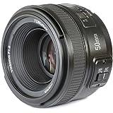 Yongnuo YN50mm Nikon Lens for Camera DSLR (58mm f/1.8Af/Mf)–Black