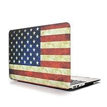 MacBook PRO Retina 13.3インチA1425 A1502 用ハードケース (と液晶保護フィルム) MacBook shell cover フィット感 個性的なデザイン ヴィンテージ 星条旗