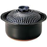 萬古焼 銀峯陶器 菊花 ごはん土鍋 (3合炊き, 瑠璃釉)