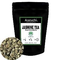 有機ジャスミン茶–Jasmine Green Tea Loose Leaf–100%の中国Seniorホワイトドラゴンパールジャスミン茶、annvchi Teas (100+カップ)–200g (7oz)