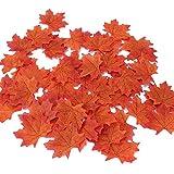Myoffice人工紅葉 人工観葉植物 造花 紅葉  高品質 もみじ パーティーの飾り 人工葉 結婚式用 家の装飾 DIY 撮影小道具100枚セット