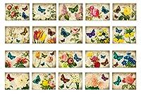 Victorian花はがきポストカード20のセット。Artistic Flower in aヴィンテージスタイルポストカードVariety Pack。Made In USA。