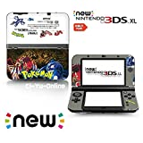 [new 3DS XL] Pokemon Omega Ruby and Alpha Sapphire Black White Limited Edition VINYL SKIN STICKER DECAL COVER for NEW Nintendo 3DS XL / LL Console System by Ci-Yu-Online [並行輸入品]