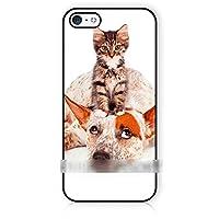 iPhone 5C猫 ネコ 犬アートケース 保護フィルム付 【ノーブランド品】